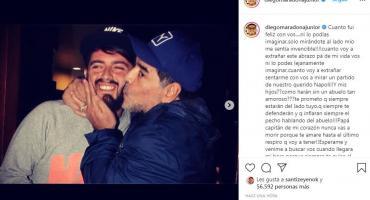 Diego Maradona Junior y su emotivo adiós: