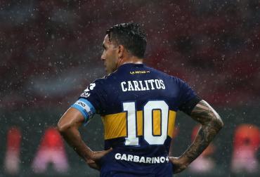 El homenaje de Carlitos Tevez a Maradona