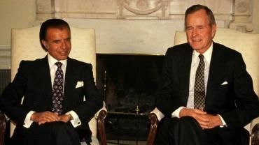 La Argentina de diciembre de 1990: intento de golpe de Estado contra Menem y la llegada de Bush