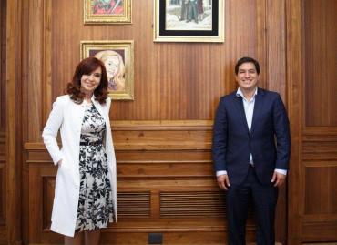 Cristina Kirchner recibió a Andrés Aráuz Galarza, el político proscripto a presidente de Ecuador