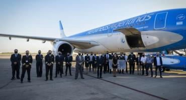 Despegó rumbo a Rusia el avión de Aerolíneas Argentinas que traerá al país la vacuna Sputnik V