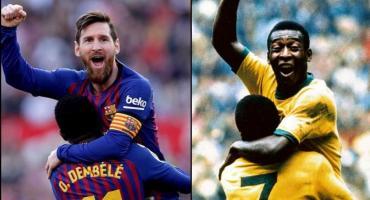 El Santos afirmó que Messi no superó el récord de Pelé