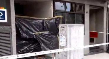 Delincuentes explotaron un cajero automático en Villa Crespo