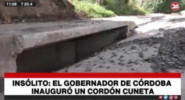 Insólito: Juan Schiaretti, gobernador de Córdoba, inauguró un