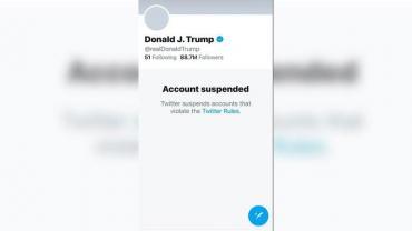 Twitter suspendió permanentemente la cuenta de Donald Trump
