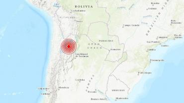 Se registró un sismo de 6.1 que sacudió el noroeste en Argentina