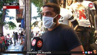 Comerciantes contra manteros en avenida Avellaneda: