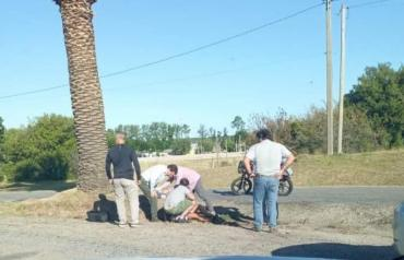 Luis Lacalle Pou asistió a motociclista que sufrió un accidente de tránsito
