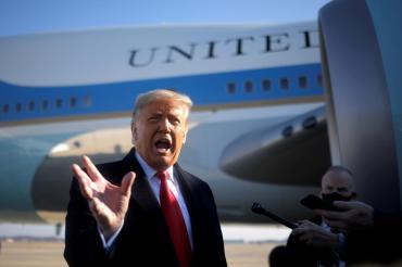 Donald Trump se irá de Washington horas antes de la asunción de Joe Biden