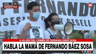 Emotivo homenaje a Fernando Báez Sosa: