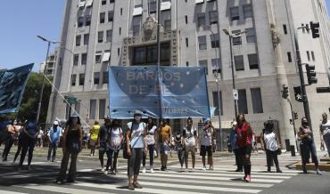 Corte en avenida 9 de julio: protesta de