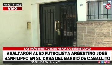 Asaltaron a José Sanfilippo en su casa de Caballito: se llevaron joyas y dinero