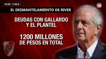 La mala gestión económica de D'Onofrio, la grieta con Gallardo y el futuro de River Plate en peligro