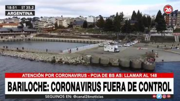 Alerta sanitaria por aumento de casos de coronavirus fuera de control en Bariloche: hay 12.234 infectados