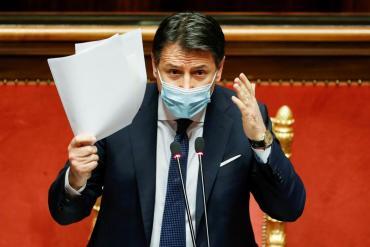 Renuncia Giuseppe Conte, el primer ministro de Italia