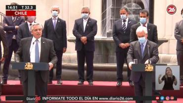 Alberto Fernández se reunió con Piñera en Chile y llamó a