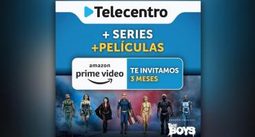 Telecentro invita tres meses de Amazon Prime Video a sus clientes