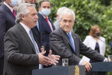 """Alberto Fernández, desde Chile: """"No abordamos el tema de Venezuela con Piñera"""""""