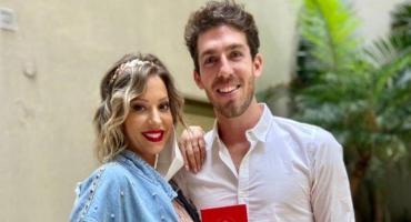 Embarazada de cinco meses, Noelia Marzol se casó por civil con Ramiro Arias
