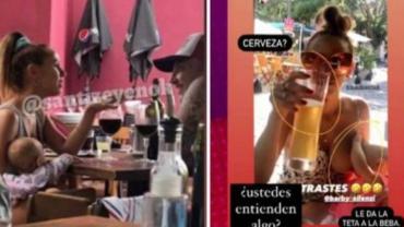 Escándalo con Barby Silenzi por beber alcohol al amamantar a su beba: