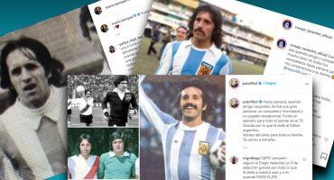 Integrantes de la Selección Argentina campeona del Mundo de 1978, despidieron a Luque en las redes sociales