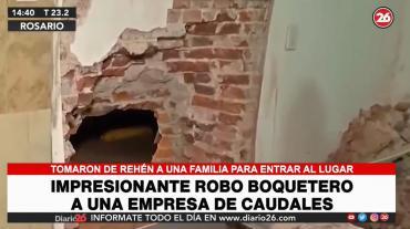 Boqueteros tomaron a familia de rehén para robar empresa de transporte de caudales en Rosario