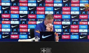 El técnico del Barcelona comenzó a sangrar y debió abandonar la conferencia: ¿qué le pasó?
