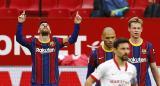 Con un gol y una asistencia de Messi, Barcelona derrota al Sevilla