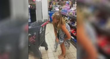 Video viral: se sacó la bombacha y la usó de tapabocas