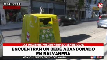 Drama en Balvanera: encontraron bebé abandonado en contenedor de basura, el padre quedó imputado