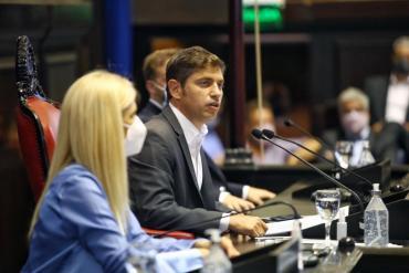 Axel Kicillof, en apertura de sesiones ordinarias en Provincia de Bs.As.: