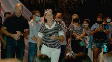 Patricia Bullrich, vestida de presa en protesta contra Gildo Insfrán: