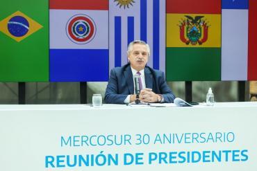 A 30 años de la creación del Mercosur, Alberto Fernández llamó a