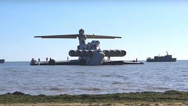 """Conocé a Ekranoplano, """"el monstruo del mar Caspio"""", el gigantesco avión ruso que"""