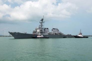Tensión en el estrecho de Taiwan con un destructor de los EEUU