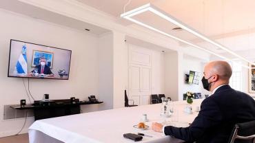 Alberto Fernández recibió una carta de Biden y dialogó con su asistente por videoconferencia
