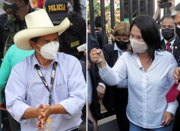 Perú se encamina a un balotaje entre Pedro Castillo y Keiko Fujimori por la presidencia