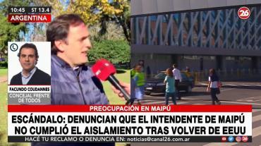 Concejal, sobre intendente de Maipú que no hizo aislamiento por coronavirus: