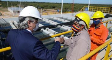 Alberto Fernández inauguró un acueducto en El Impenetrable:
