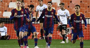 Lionel Messi frotó la lámpara, clavó dos golazos y el Barcelona le ganó con autoridad al Valencia por 3 a 2