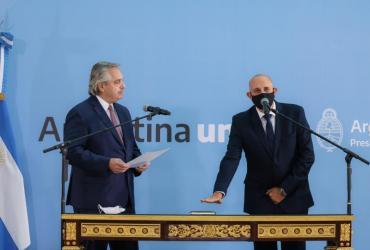 Alberto Fernández tomó juramento a Alexis Guerrera, sucesor de Mario Meoni en el Ministerio de Transporte