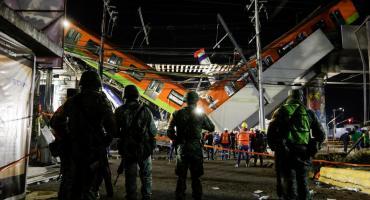 VIDEO: el momento en que colapsó un tramo del metro en Ciudad de México
