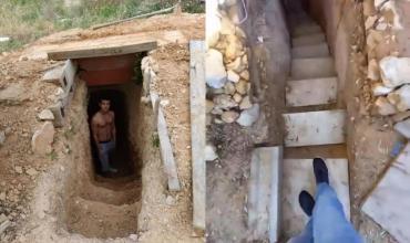 Un adolescente hizo una cueva y armó una casa con WiFi, luz y calefacción