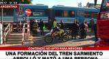 Una persona murió tras ser arrollada por el tren Sarmiento en la estación Floresta