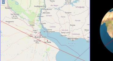 El cohete chino pasó cerca de la Ciudad de Buenos Aires