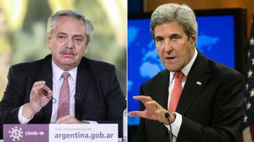 Alberto Fernández se reúne con John Kerry, el ex secretario de Estado de EE.UU.