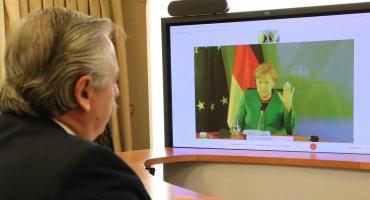 Alberto Fernández habló con Angela Merkel y pidió su apoyo por la Deuda con el FMI y el Club de París
