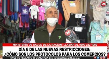 Queja de comerciantes por restricciones del Gobierno en pandemia: