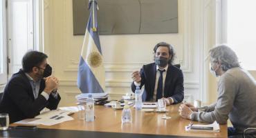 Santiago Cafiero se reunió con Carlos Bianco y Felipe Miguel para definir las restricciones en el AMBA