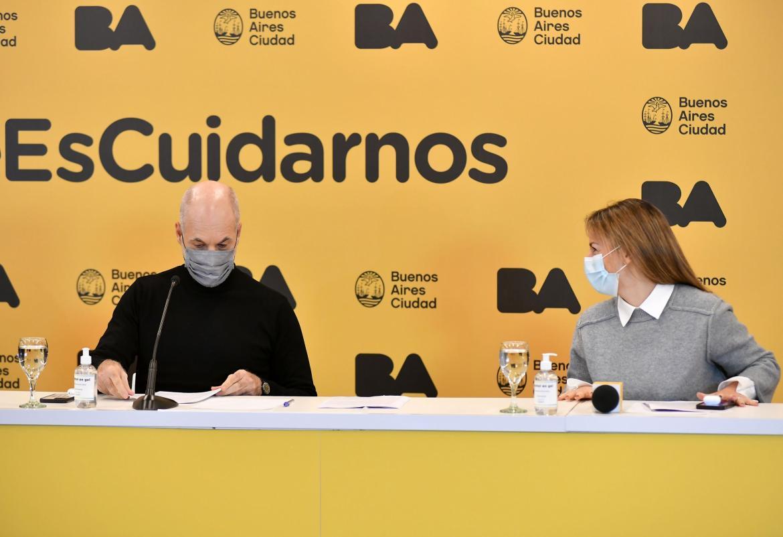 Horacio Rodríguez Larreta, anuncia las medidas adoptadas en la ciudad ante la pandemia de Covid